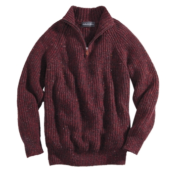 Donegal Wool Cashmere Quarter Zip