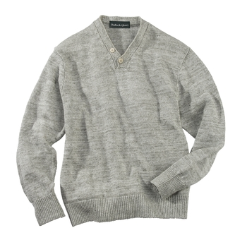 Washed Linen V-Neck Pullover