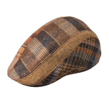 Patchwork Wool Touring Cap