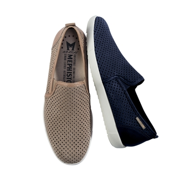Mephisto Perforated Nubuck Slip-Ons