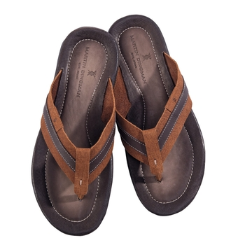 Leather Flip-Flops by Martin Dingman