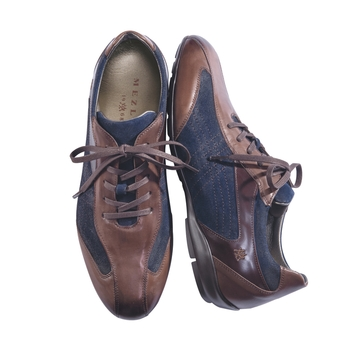Blue Suede Comfort Shoes by Mezlan