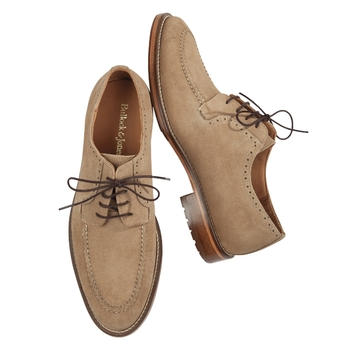 Tan Suede Moc-Toe Blucher