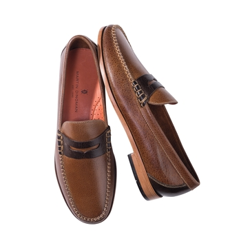 Two-Tone Penny Loafers by Martin Dingman