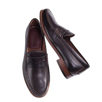 Sadler Sheepskin Penny Loafer from Trask