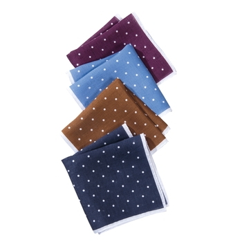 Linen Dot Pocket Squares