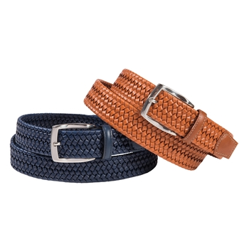 Braided Leather Stretch Belt