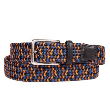 Leather Braided Stretch Belt