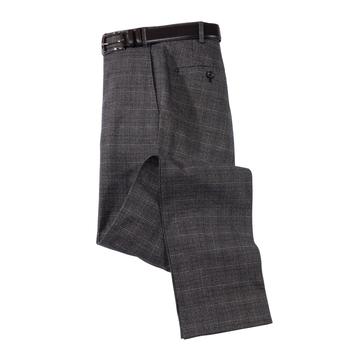Glen Plaid Cotton Stretch Slacks