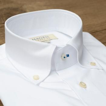 White Pinpoint Button Down Shirt
