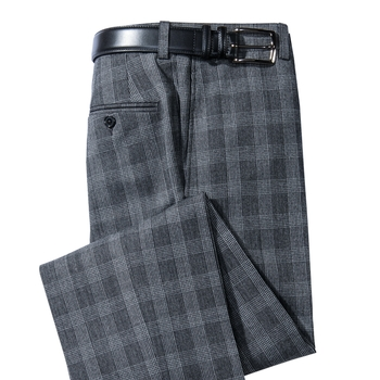 Glen Plaid Travel Slacks