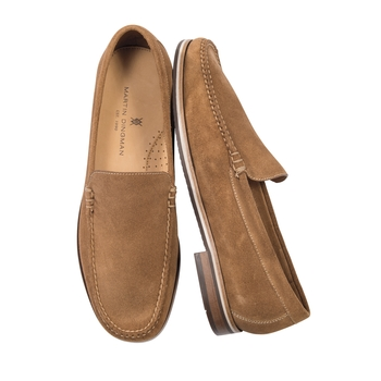 Water-Repellent Suede Venetians From Martin Dingman