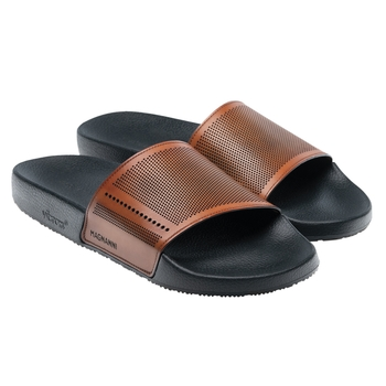 Perforated Playa Leather Slides by Magnanni