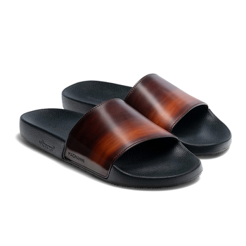Playa Leather Slides by Magnanni