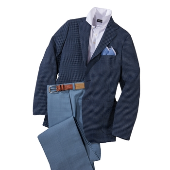 Del Mar Stretch Seersucker Check Sport Coat