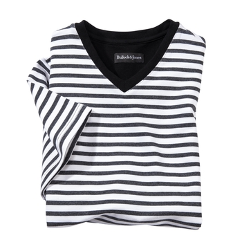 Laguna French Terry Stripe V-Neck