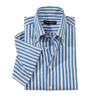 Riga Linen Short-Sleeve Sport Shirt