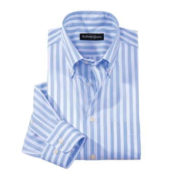 Del Mar Stripe Button- Downs Lightweight