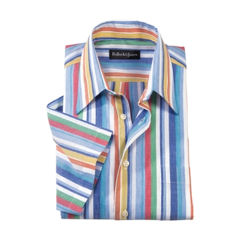 Bolinas Linen/Cotton Stripe Button-Down