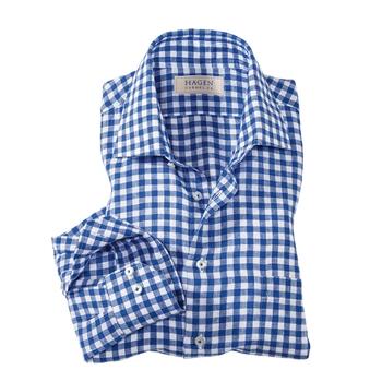 Linen Gingham Check Sport Shirt by Hagen of Carmel