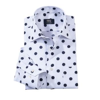 Lugano Sartoriale Swiss Dot Shirt by Bruli