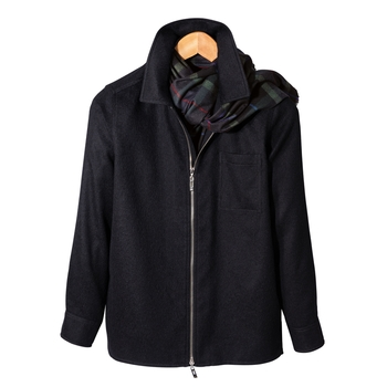 Inverness Zip Alpaca Shirt Jacket