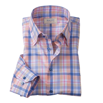 Spring Plaid Sport Shirt by Hagen