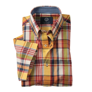Miller India Madras Plaid Sport Shirt