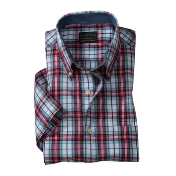Harris India Madras Plaid Sport Shirt