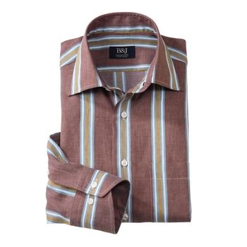 Mocha Stripe Swiss Sartoriale Shirt