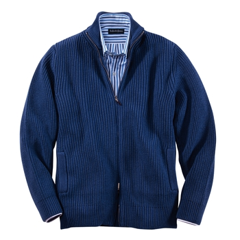 Piero Merino Wool Ribbed Cardigan