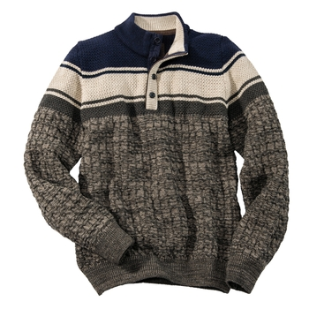 Siena Henley Jacquard Pullover
