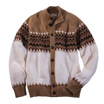 Tahoe Wool Jacquard Cardigan