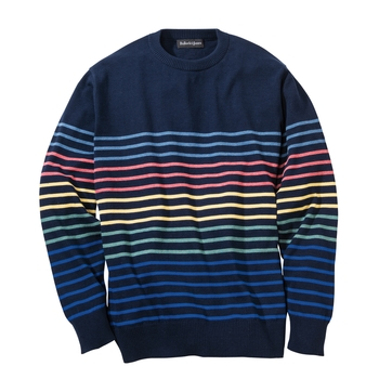 Ventura Stripe Cotton Crewneck
