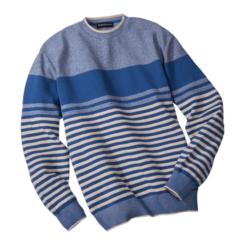 Alameda Stripe Cotton Crewneck
