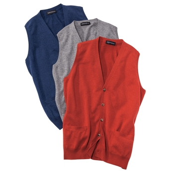 Cashmere Button Vest