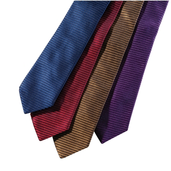 Horizontal Rib Silk Stripe Ties