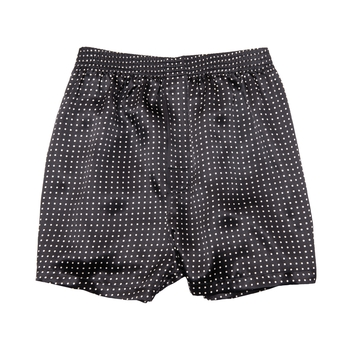 'Hugh' Silk Charmeuse Dot Boxers