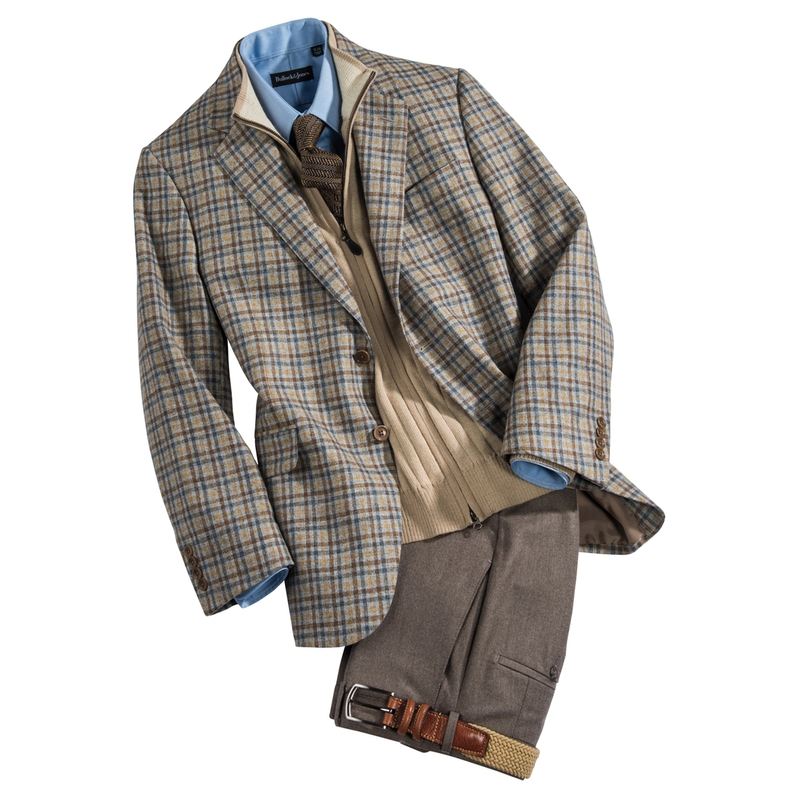 Wool Cashmere Check Sport Jacket