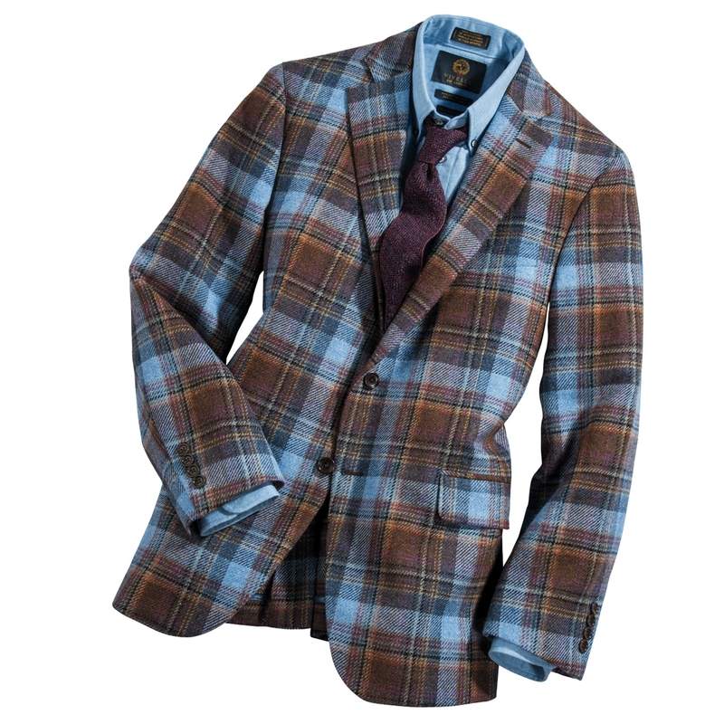 Magee Irish Tweed Plaid Sport Jacket