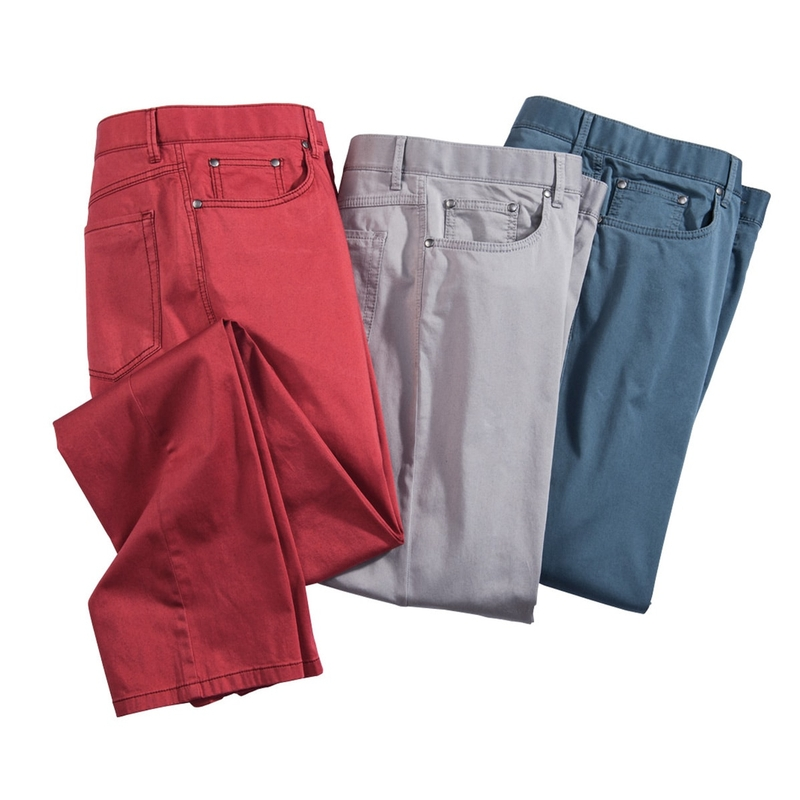 Spring Twill 6-Pocket Jeans