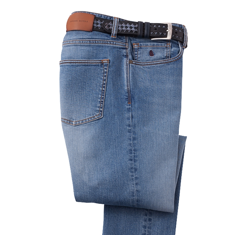 5-Pocket Stretch Jeans by Luciano Barbera