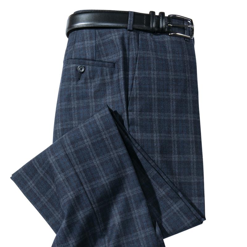 Atherton Wool Plaid Slacks