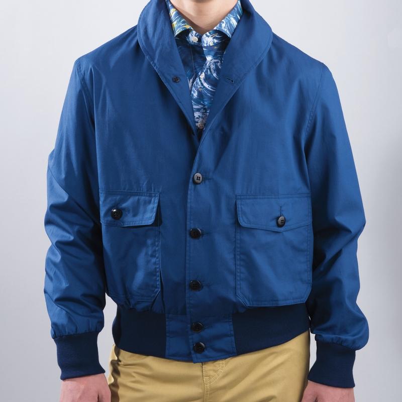 Shawl Collar Cotton Zip Jacket