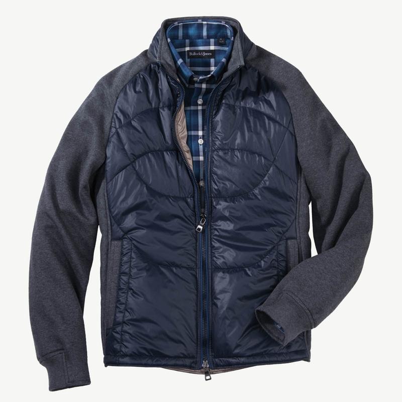Knit and Nylon Italian Jacket