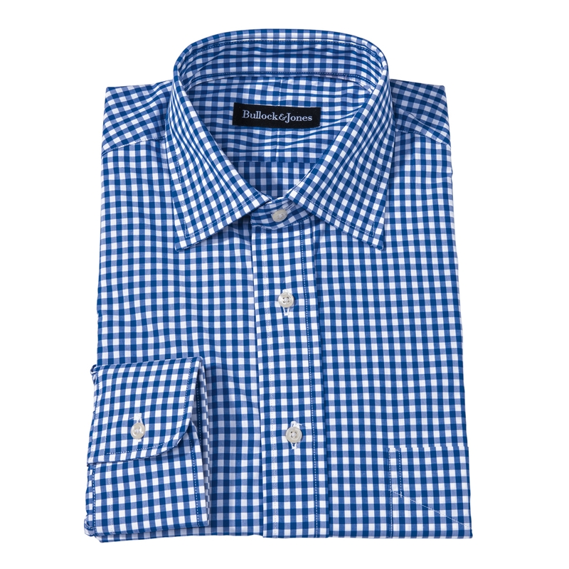 Gingham Check Dress Shirt