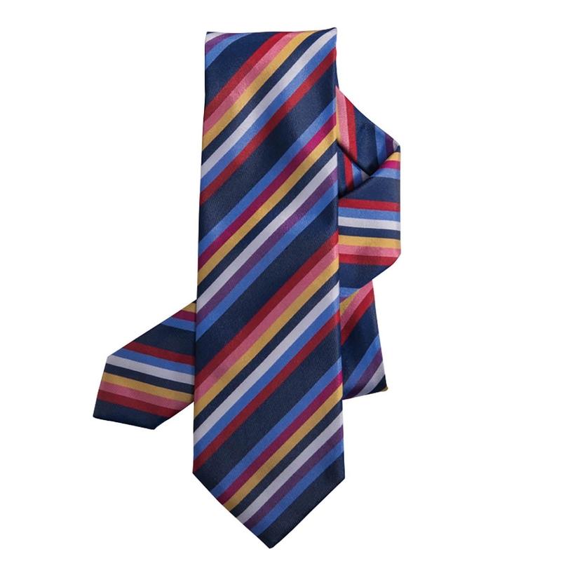 Eight-Color Stripe Tie