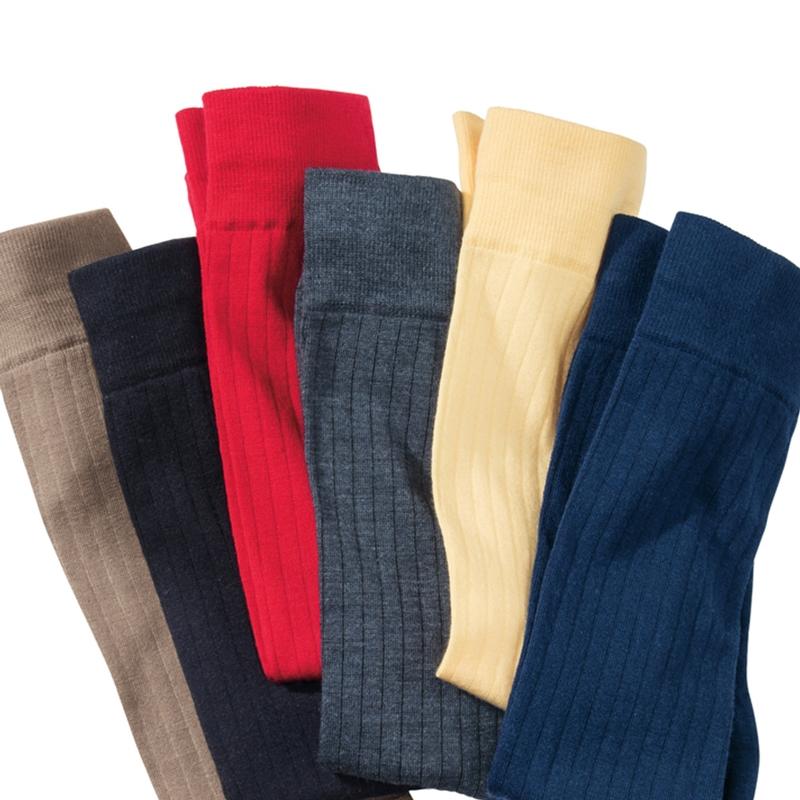 Merino Wool Ribbed Sport Socks