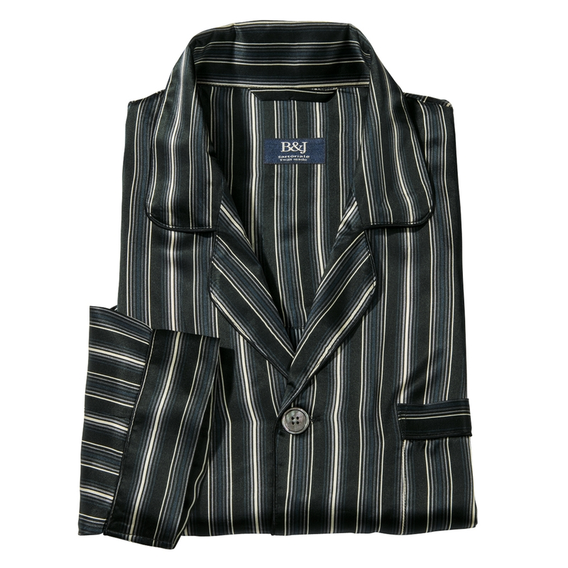 Stripe Silk Pajamas