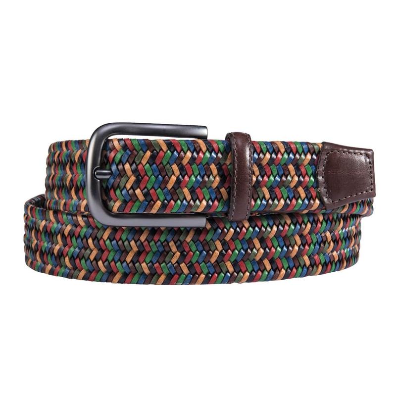 Multicolor Italian Stretch Belt